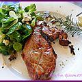 Selles d'agneau, thym romarin au barbecue