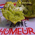 Muffin salé au pesto (coeur fromage fondu)