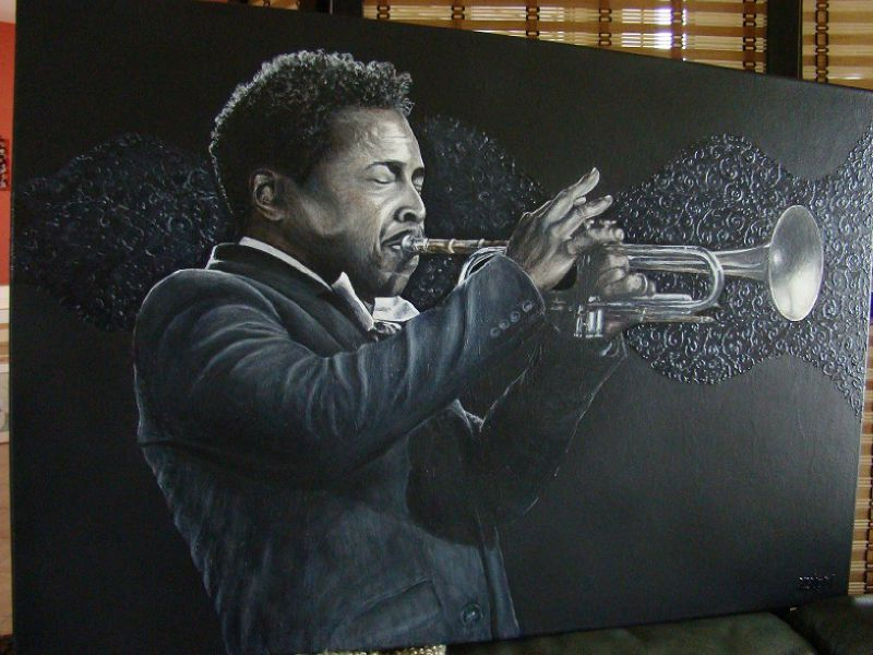 Waves- Roy Hargrove portrait painting