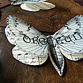 Guignol et blanche, papillons en papier