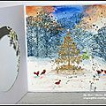 Deux petites cartes à l'aquarelle (dt crafty individuals) et un joyeux noël à tous / two watercolor cards and merry christmas!!