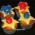 Muffins Bakugan 4 modèles Bagugan cupcakes