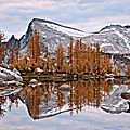 Perfection Lake in the Enchantments in Fall - WA, USA