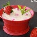 Gâteaux de semoule <b>vanille</b>-fraises