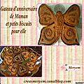 Anniversaire de maman:le gateau et les biscuits + recettes!!miam!!!