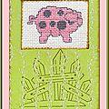 Échange ATC Août Chez Véro (Cochons) Paulette (Étoile 59300) pour Marie de Clessé [1]