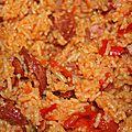 Riz aux légumes poulet chorizo (cookeo)