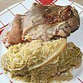 Jarrets de porc au chou vert
