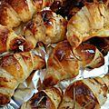 Mini croissants chèvre et miel