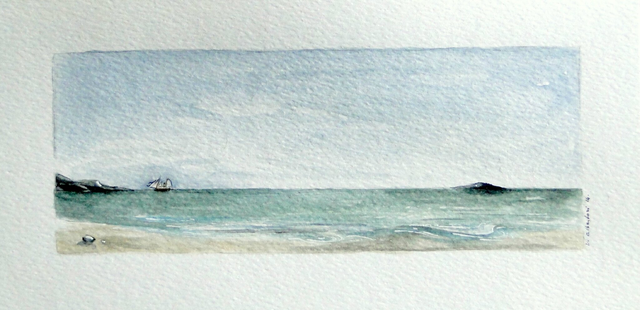 aquarelle valérie albertosi mer plage