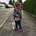 Sac à dos enfant maternelle personnalisé prénom Loup fille Lilou