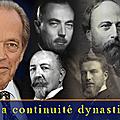 Les actes de succession dynastique des chefs de la maison de france