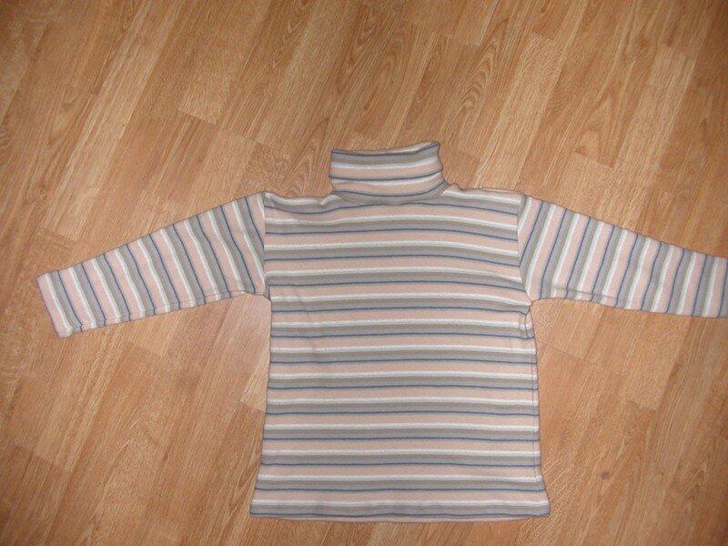 tee shirt manches longues et col roulé garçon