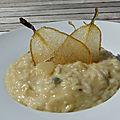 Risotto à la poire et au <b>gorgonzola</b>