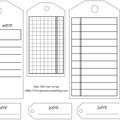 Etiquettes gratuites à télécharger et à imprimer pour le scrapbooking : tags noir et blanc