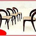 Chaises gondoles <b>Baumann</b> vintage 1960