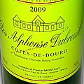 Des vins des appellations Montagne Saint Emilion et Côtes de Bourg