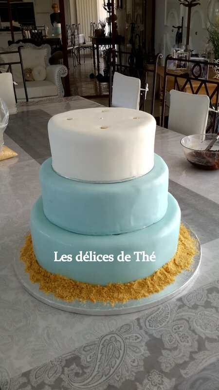 Wedding cake génoise ganaches 3 chocolats Théme Coquillages Mariage Domi Eric 28 04 18 (44)