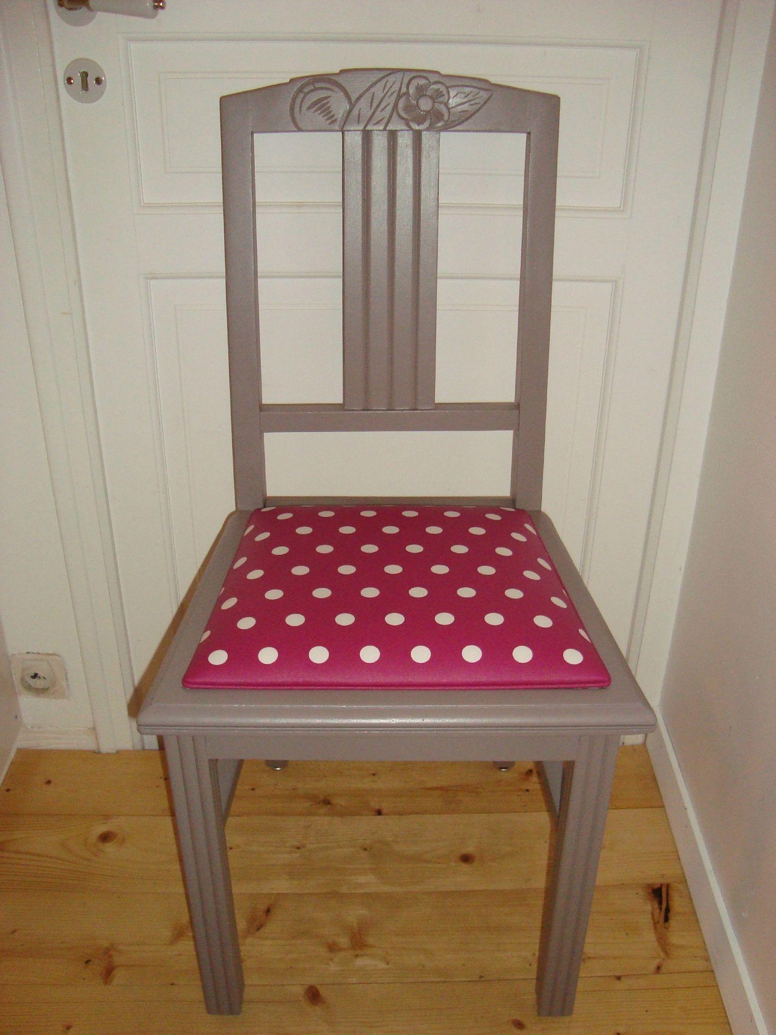 chaise 30's coton enduit