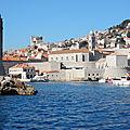 Croisière d'hiver en Dalmatie du 11 au 18 février. Jeudi 16 février, de Dubrovnik vers Vodice. Visit of Dubrovnik old harbour