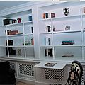 bibliothèque bois laqué2