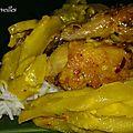 Poulets frits aux mangues