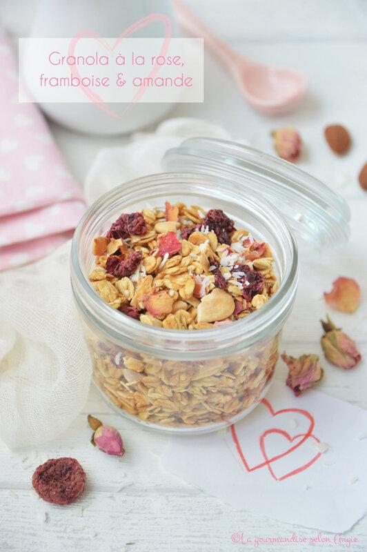 granola à la rose framboise et amande - vegan (1)