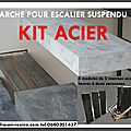 escalier suspendu,escalier flottant, quart tournant escalier, suspendu en <b>kit</b>, <b>kit</b> marches suspendues, marche caisson, escalie