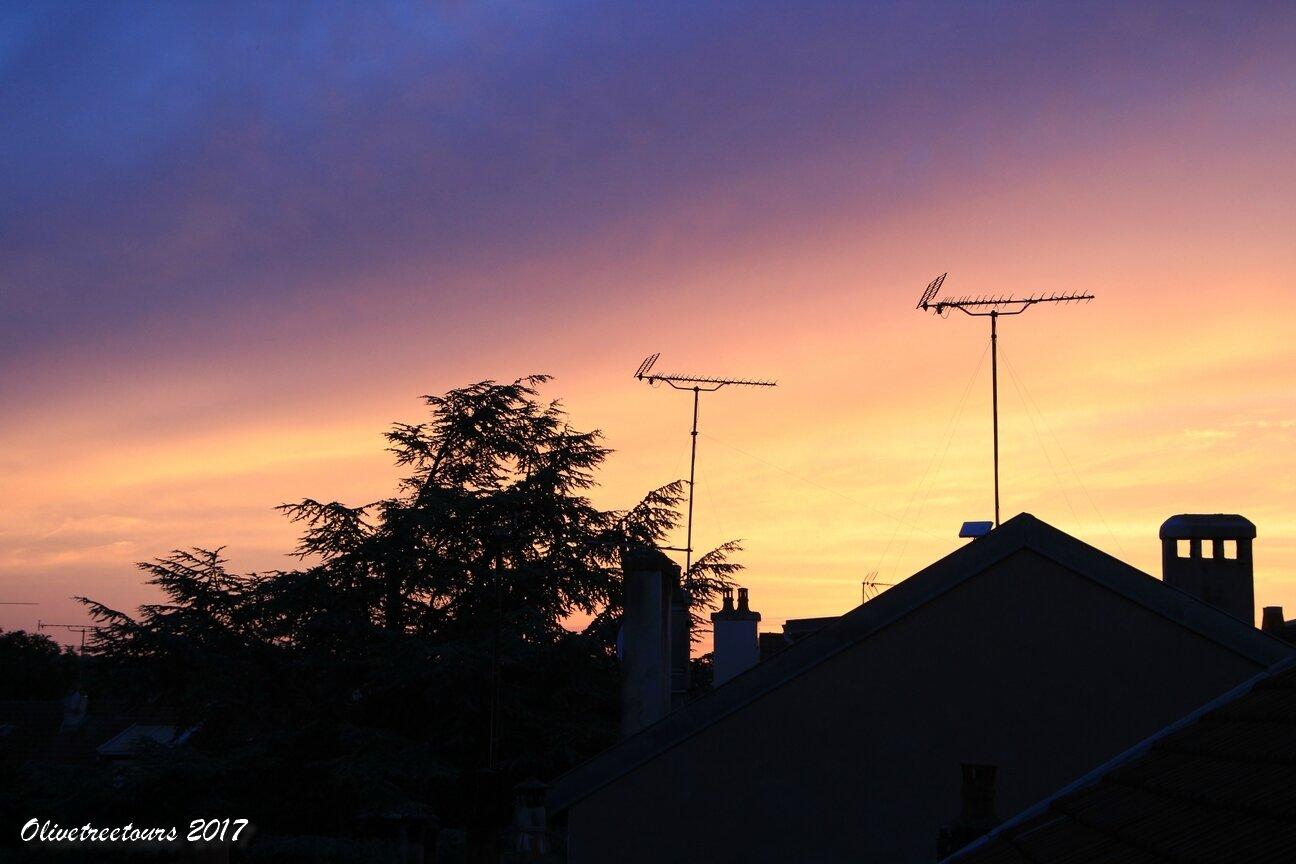 Le ciel en feu depuis chez moi / The sky in fire from my place