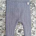 Sarouel tricot torsades, 6 mois