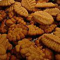 Biscuits à la presse au beurre de cacahuètes