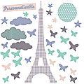 Déco papillons tour Eiffel...