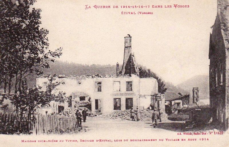 Étival (Vosges), ruines village