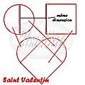 ~~ un rond + un carré = un coeur pour la saint valentin ! ~~