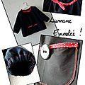N°25: tunique raglan noire- 6 euros