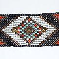 Bracelet Manchette 'Native American' ou Amérindien en perles tissées et clou
