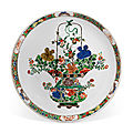 A famille verte 'floral' charger, <b>Kangxi</b> period (1662-1722)