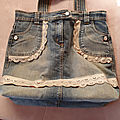 Sac cabas jean customisé