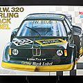 Maquette 1.24 BMW320 turbo Carling Black Label
