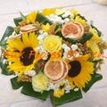 Bouquet rond avec Oranges Sèches