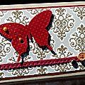 53. caramel, roug et or - baroque papillon
