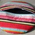 Pochette ronde molletonnée