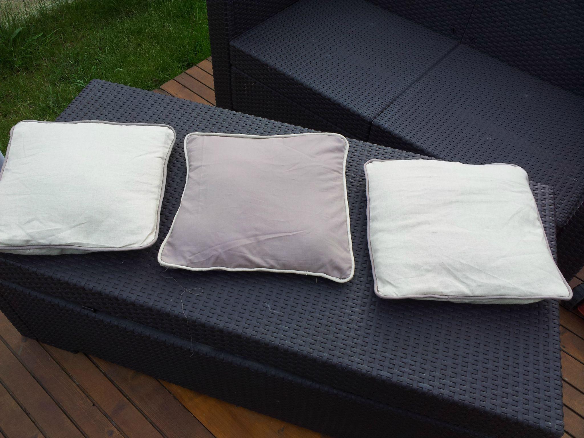 Des coussins avec ganse pour mon canapé