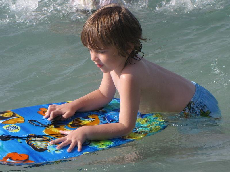 Juillet 2009 - Nathan à la plage
