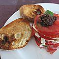 Millefeuille tomate - courgette - mozarella