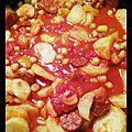 Mijotée de légumes au chorizo