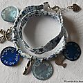 Bracelet personnalisé pour une Profession de foi sur ruban double tour