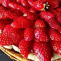 Tarte craquante aux fraises et à la crème de noisettes: une belle gourmandise à partager !