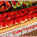 Tarte aux fraises à la crème aux amandes