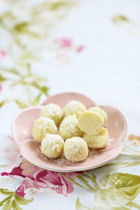 Truffes aux spéculoos, chocolat blanc & ricotta